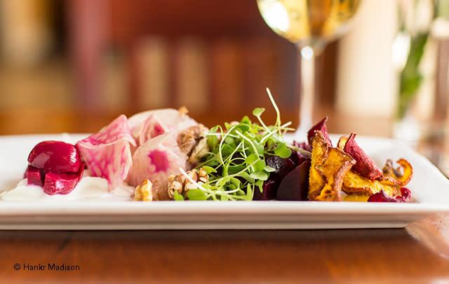 Beet salad by Stephen Carrol of Brasserie V