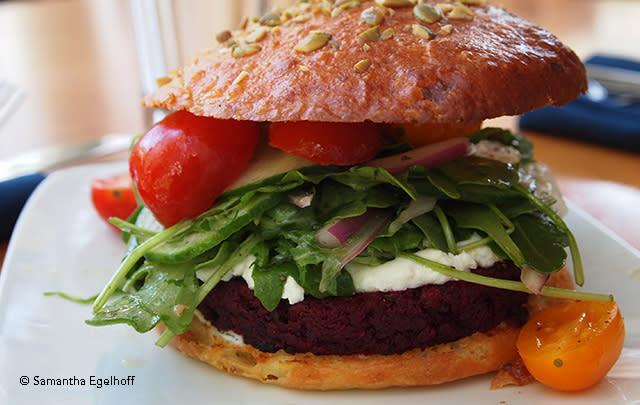 Beet & Walnut Burger