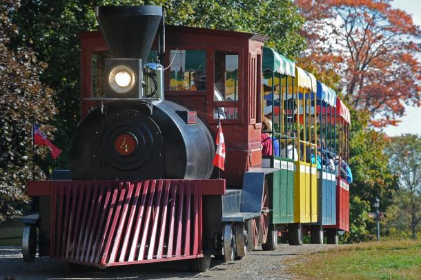 Riding the Train at Appleland