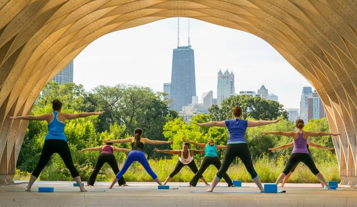 Yoga at Lincoln Park Zoo