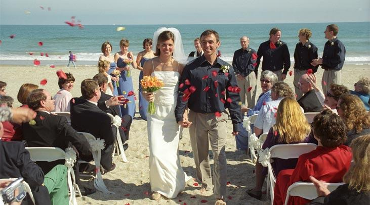 Wedding ceremony on Wrightsville Beach