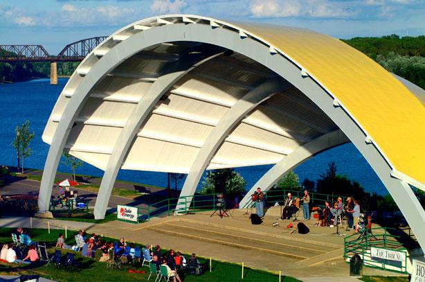 New Albany's Riverfront Amphitheater in Southern Indiana