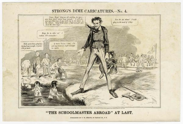 Lincoln Schoolmaster political cartoon