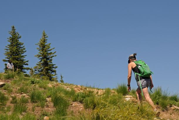 Hiking the Nature Trail at Schweitzer Mountain Resort
