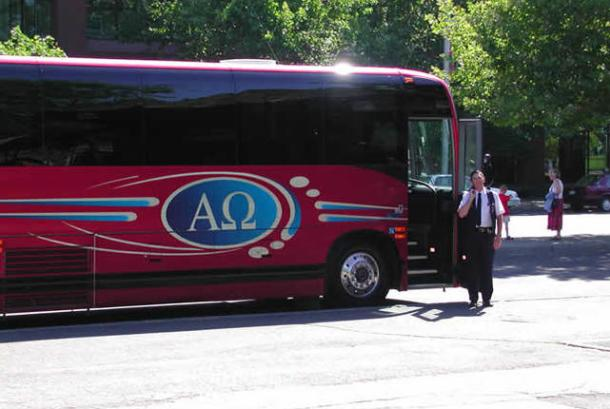 Alpha Omega Red Bus