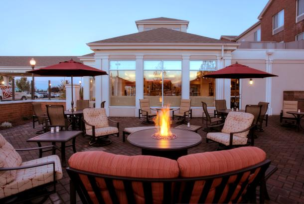 Fireside seating on the patio!