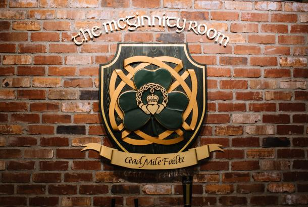 The McGinnity Room, Crest