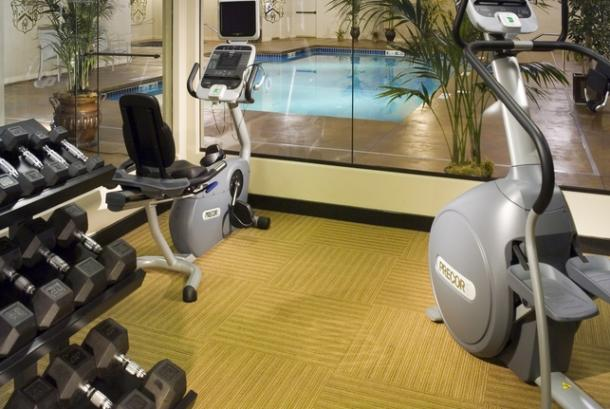 Tower fitness center and pool