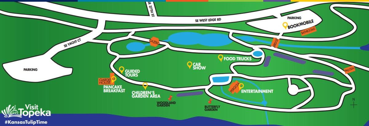 General map of Tulip Time Festival