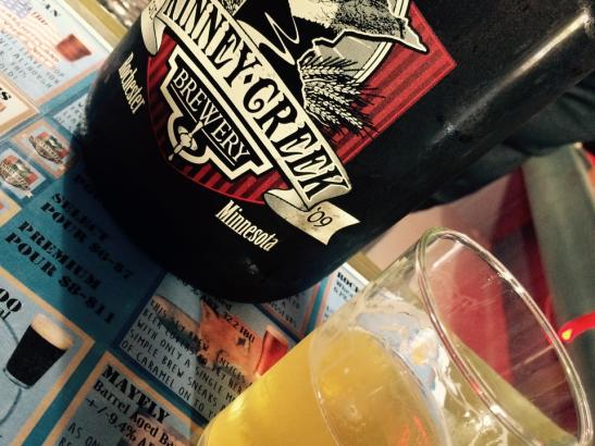 A Growler of Sunny Days Beer from Kinney Creek