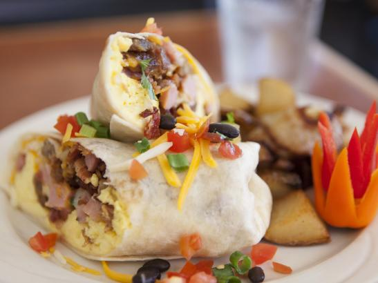 Get the whole Enchilada in a Breakfast Buritto | credit olivejuicestudios.com