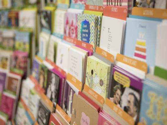 A large selection of greeting cards > credit olivejuicestudios.com.