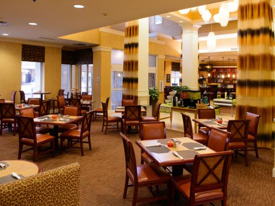 Enjoy a relaxing breakfast in the Great American Grille