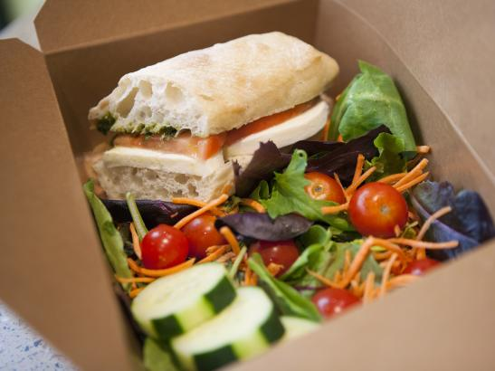 Locally sourced sandwich to go > credit olivejuicestudios.com.