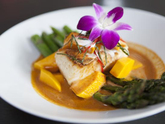 Pan-seared Red Curry Sea Bass > credit olivejuicestudios.com.