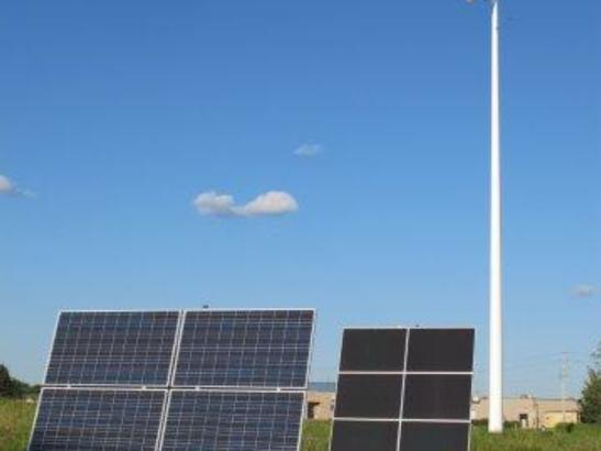Tracking Solar Panels & Horizontal Axis Wind Turbine