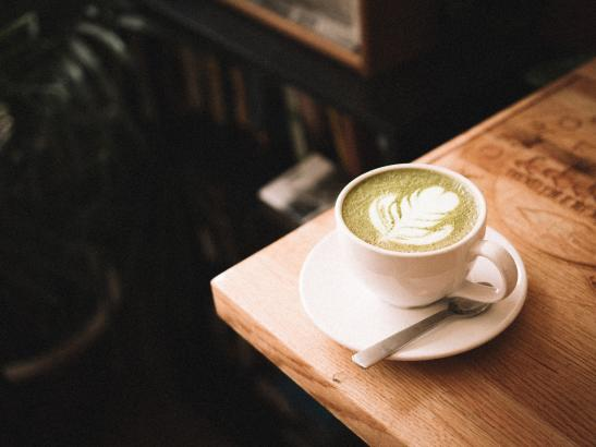 Matcha Latte - Green Tea powder added to milk and steamed.