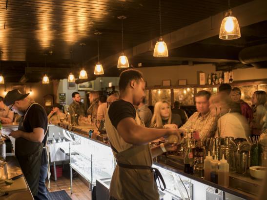A speakeasy-style bar in Rochester's Underground > credit olivejuicestudios.com.