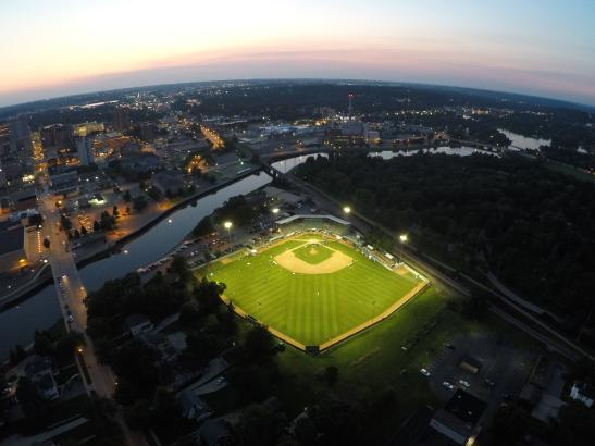 A bird's eye view of Mayo Field | credit Dan Litzinger