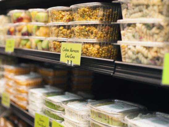 Stocked with ready-made fruit, salads, hummus + dips > credit olivejuicestudios.com.