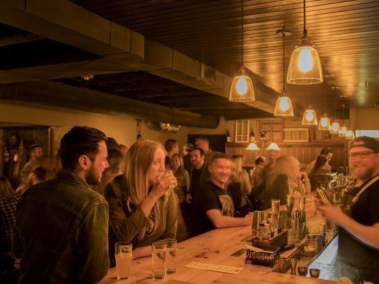 Socialize over craft cocktails > credit olivejuicestudios.com.