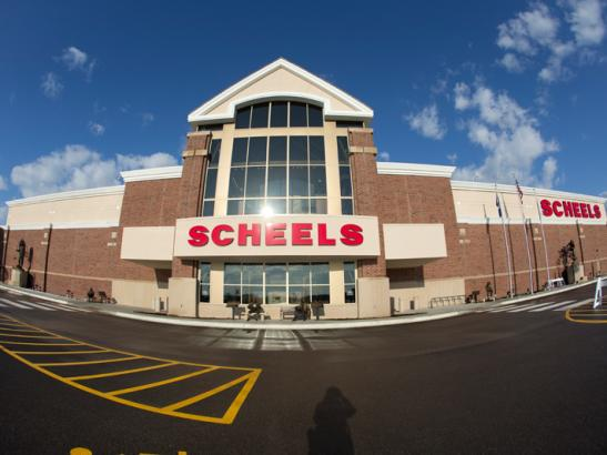 SCHEELS Exterior at Apache Mall.