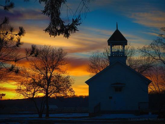 Barn at sunset | credit History Center
