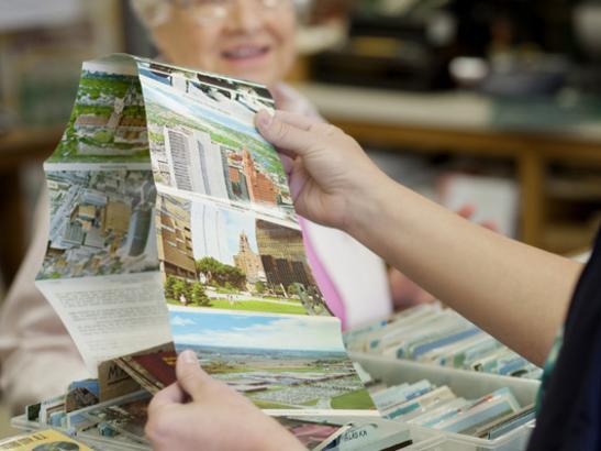 Vintage postcards > credit olivejuicestudios.com.