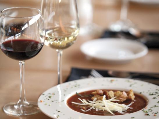 Soup + wine > credit olivejuicestudios.com.