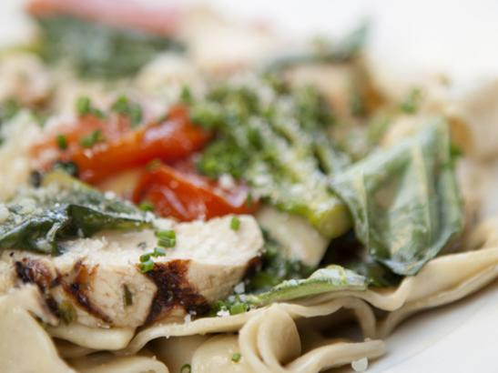 Chop Salad with grilled chicken > credit olivejuicestudios.com.