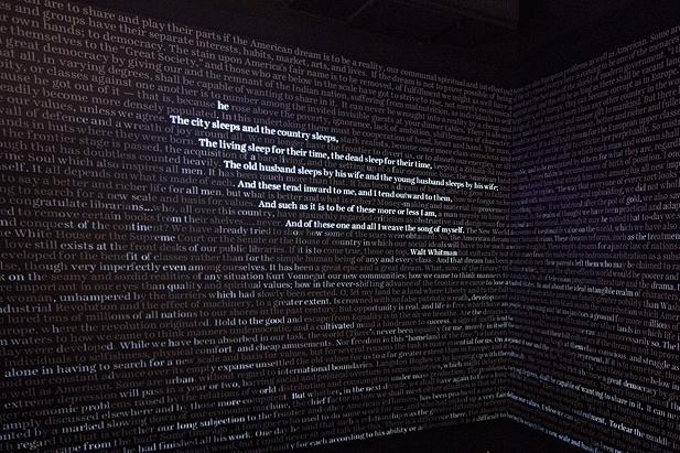 Word Waterfall at American Writers Museum Chicago