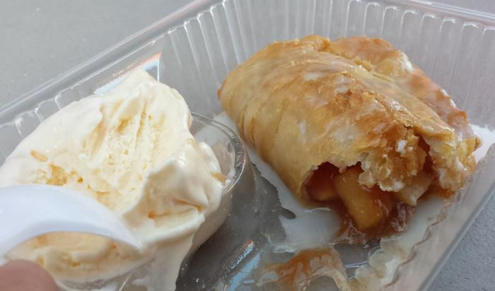 Fried Apple Pie with Ice Cream from Anderson Orchard