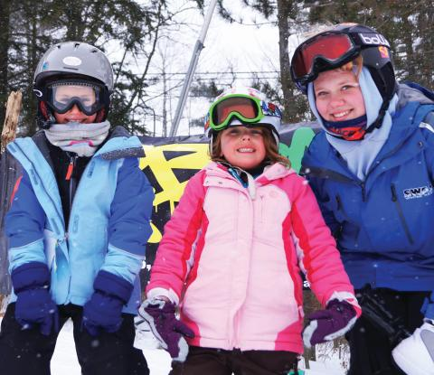 Three skiing kids from Swain Resort in the Rochester, NY Region