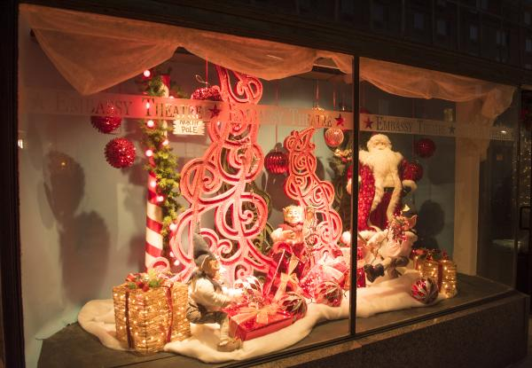 Downtown Fort Wayne Holiday Window Display