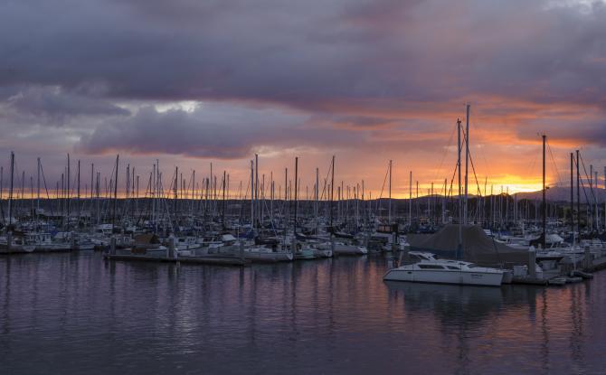 Sunset over Monterey Bay
