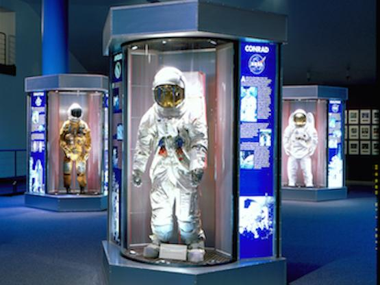 Astronaut Suit Exhibits at the Space Center Houston