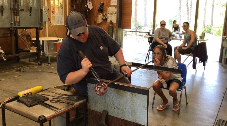 Blow Your Own Ornament at Orbix Hot Glass