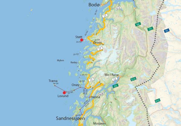 Kulinarisk øyhopping: reiserute