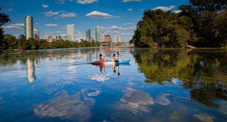 True Austin: Lake and Skyline