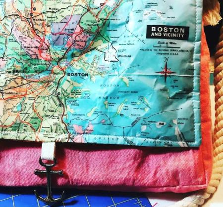 Vintage Map Bag Providence Flea