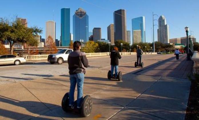 Tourists on Segway Tours of Houston