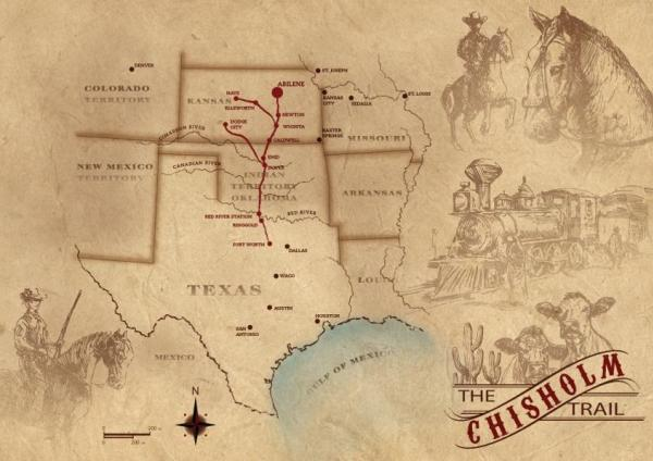 Things To Know About The Chisholm Trail - Chisholm trail map