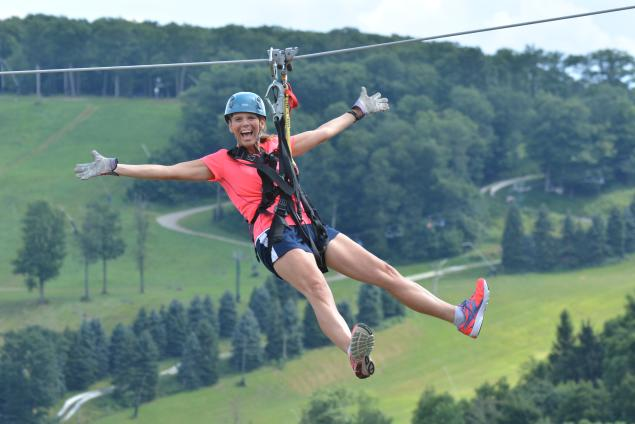 Zip Lining at Seven Springs
