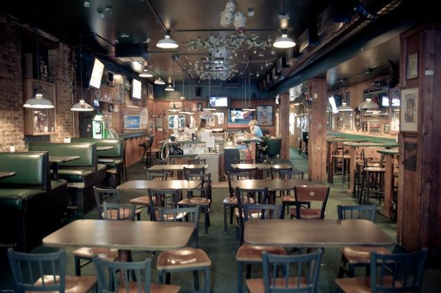 Interior of Mulligan's Pub in Grand Rapids, Michigan