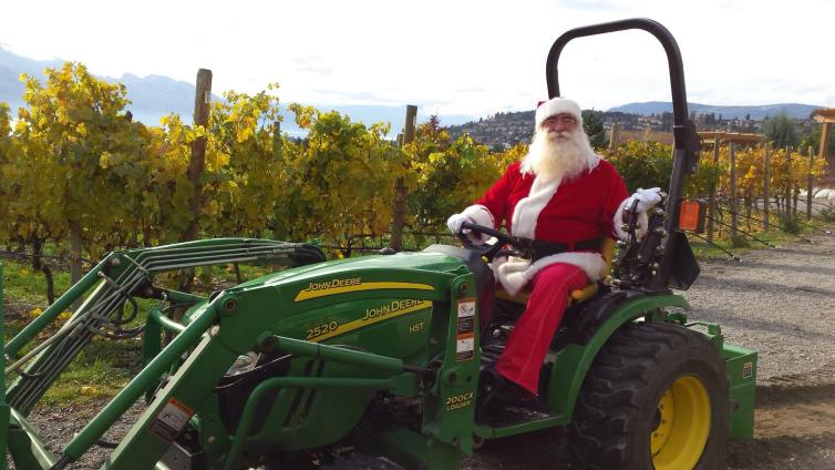 Santa at Quails' Gate Winery