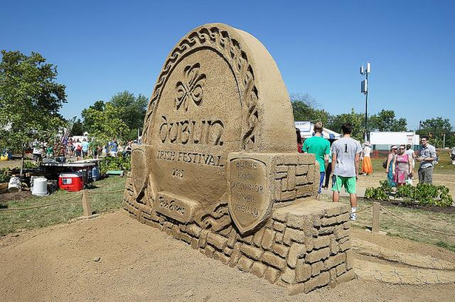 Dublin Irish Festival Sand Sculpture