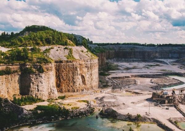 Hanson Observation Deck - Limestone Quarry - Fort Wayne, IN