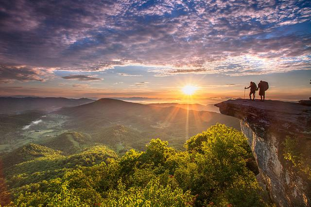 Sunrise - McAfee Knob in Virginia's Blue Ridge