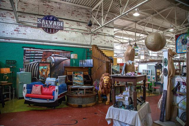 Shopping at Black Dog Salvage in Virginia's Blue Ridge