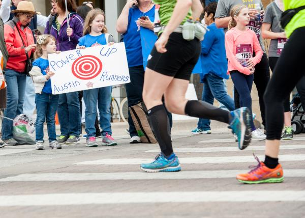 Crowd cheering on Austin Marathon & Half Marathon Participants. Photo Courtesy of Stacey Conley.